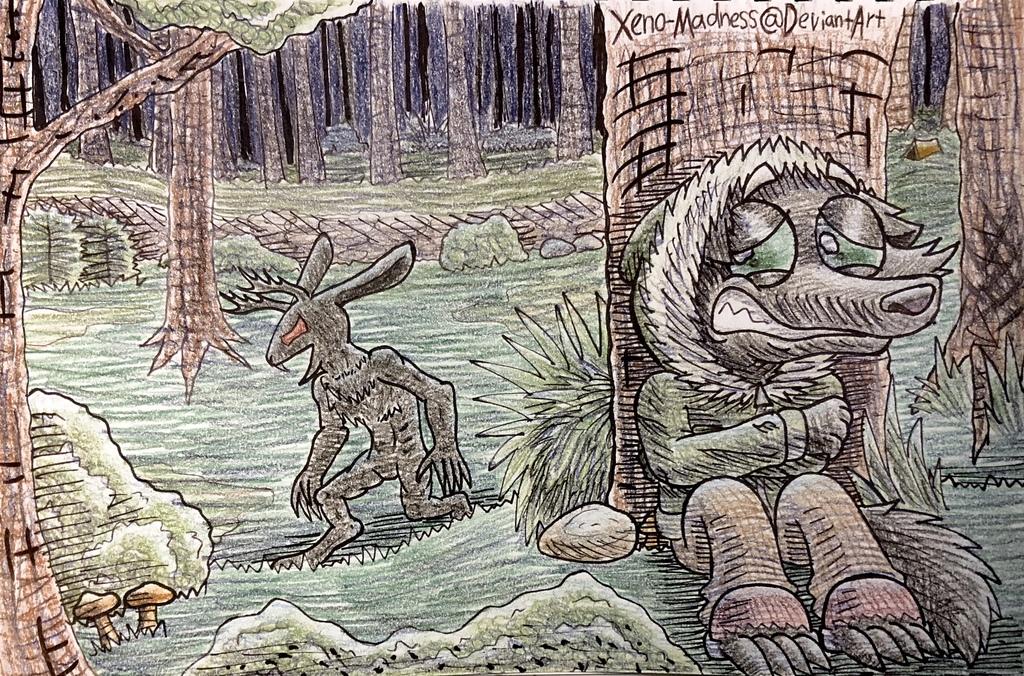 Inktober 28: Camping Terror