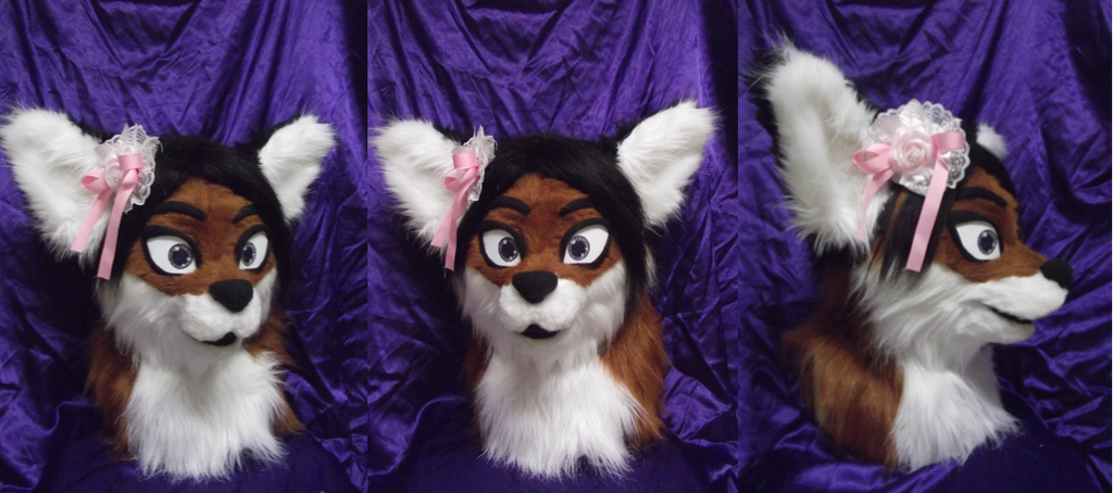 Most recent image: Cute Fox Head and Tail Premade! For Sale!