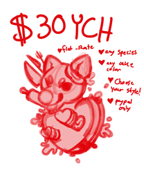 Eat Your Heart Out $30 Flat Rate YCH; OPEN!!