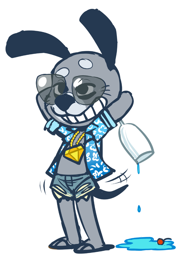 you're spilling your drink everywhere you idiot