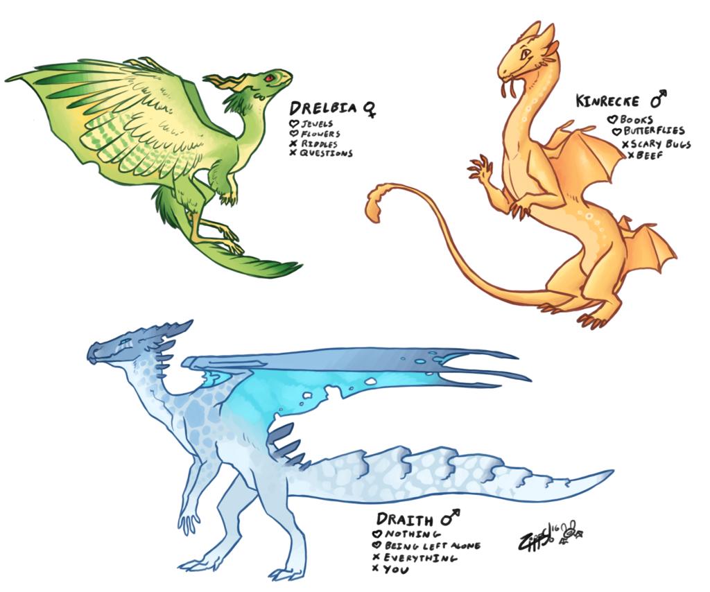 Dragon Dating Sim Character Concepts