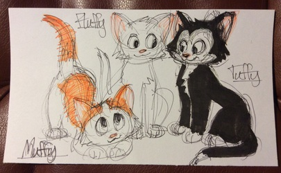 Picture Book Fluffy Tuffy and Muffy