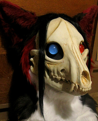 Wolferess Lich mask with DVC skull