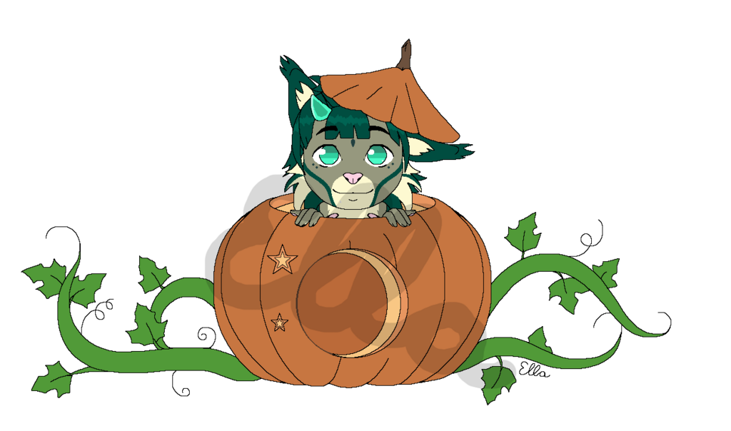 Most recent image: Halloween lynx (YCH comission)