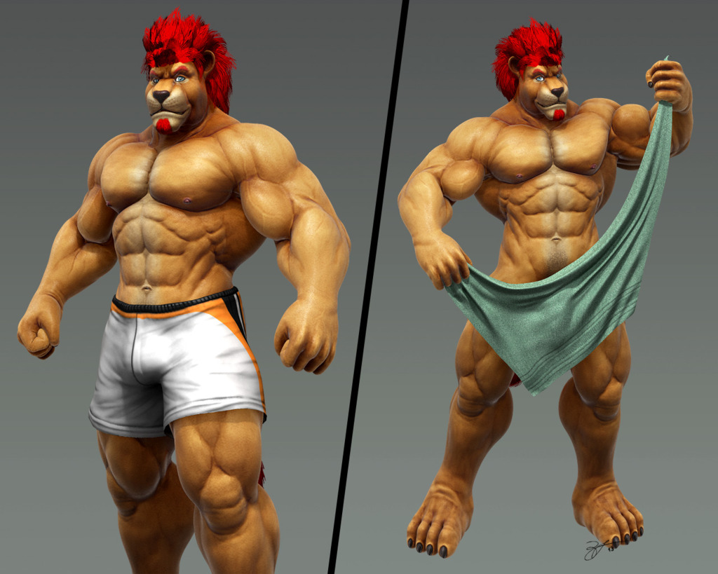 Most recent image: Buff cat from the third dimension