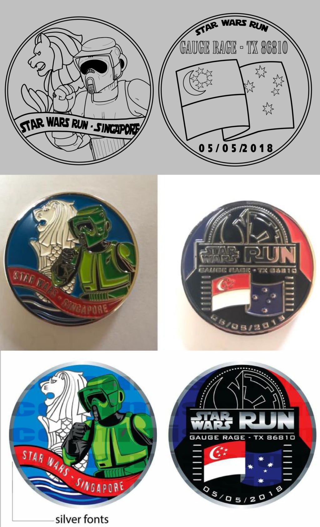 Gauge Rage - Star Wars Run Singapore Coin