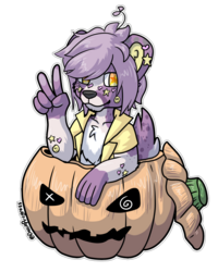 Pumpkin Sticker - Leo