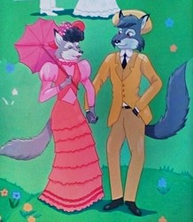 Early 1900's Wolf Couple