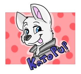 Old KatoPup Con Badge