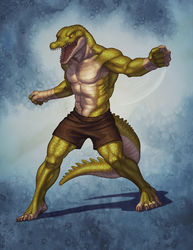Crocodilian Brawler