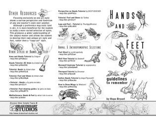 Hands and Feet Tutorial Pamphlet (B+W)- Back Cover