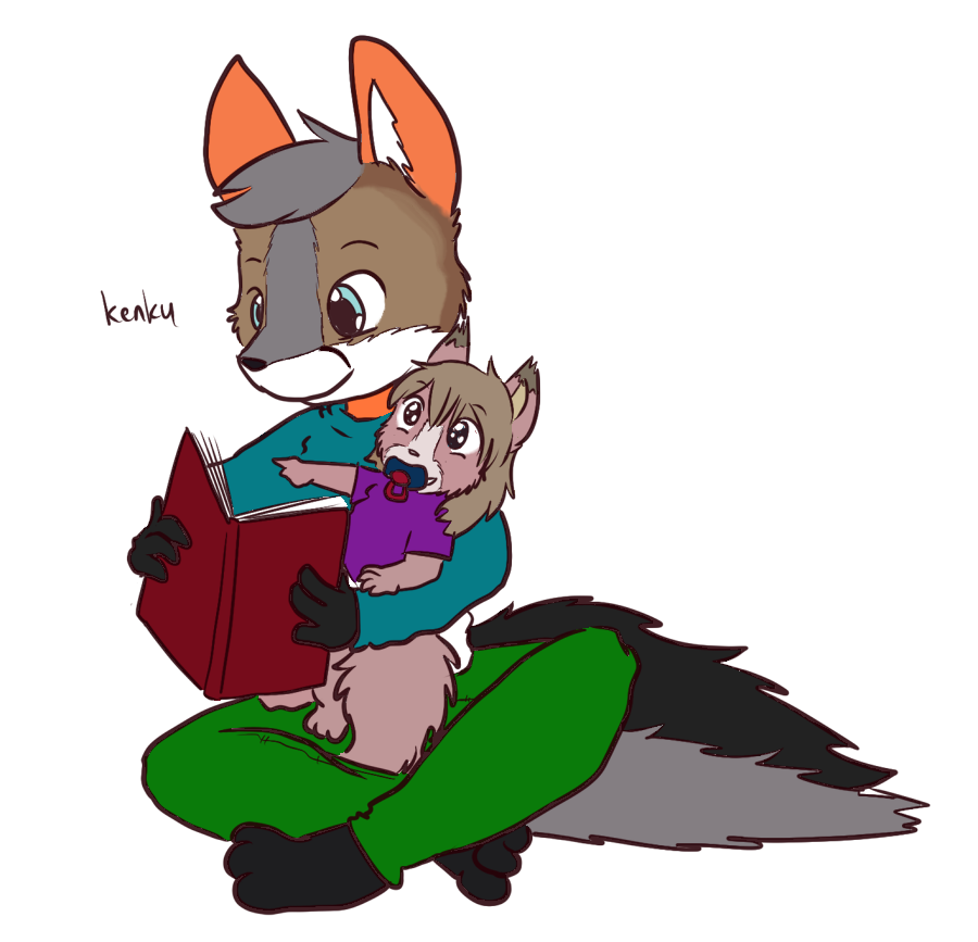 Colored Line Art - Kenku Reading to Gem
