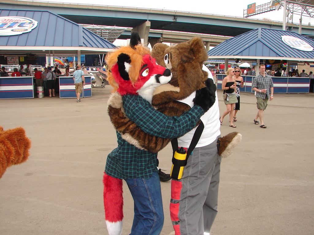 Foxes like rabbits! (2008 Milwaukee Pride)