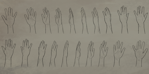 Open Hand Rotation Reference Sheet