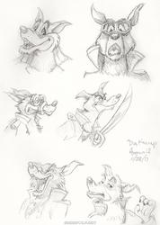 Don Karnage Sketches