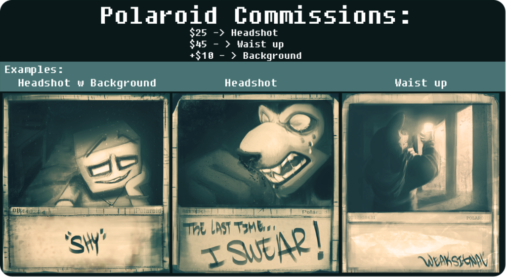 Featured image: POLAROID COMMISSIONS: (3/3 SLOTS AVAILABLE)