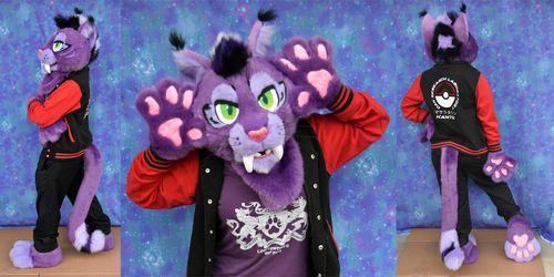 Purple Saberkitty Partial Suit for Sale 2