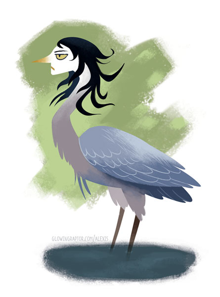 great blue heron harpy