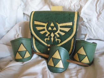 Leather Triforce Set
