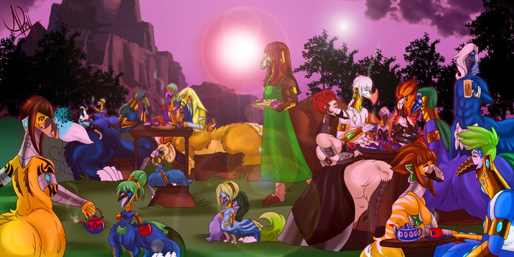 Uragi Tea Party (Commission)