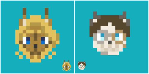 Pixel Meow Collage