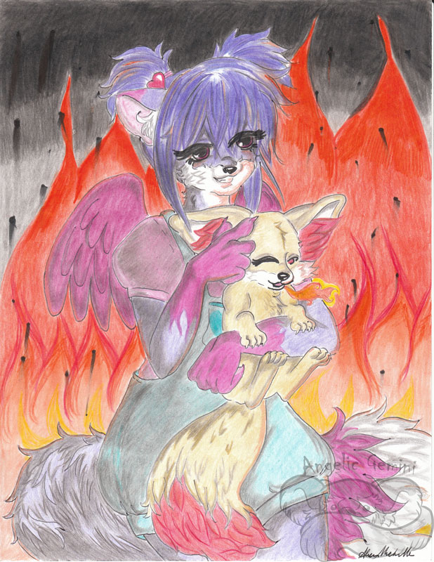 A fox and her pokemon