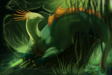 basking in the green