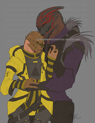 Commission: Adorable Turian Couple