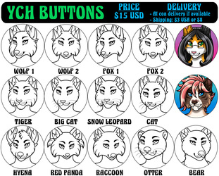 YCH Buttons - Female (2018)