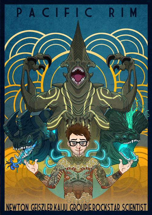 Newton Geiszler : Kaiju Groupie, Rockstar Scientist