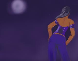 Moon doodle