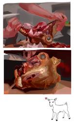 [animal death, gore] goat head studies