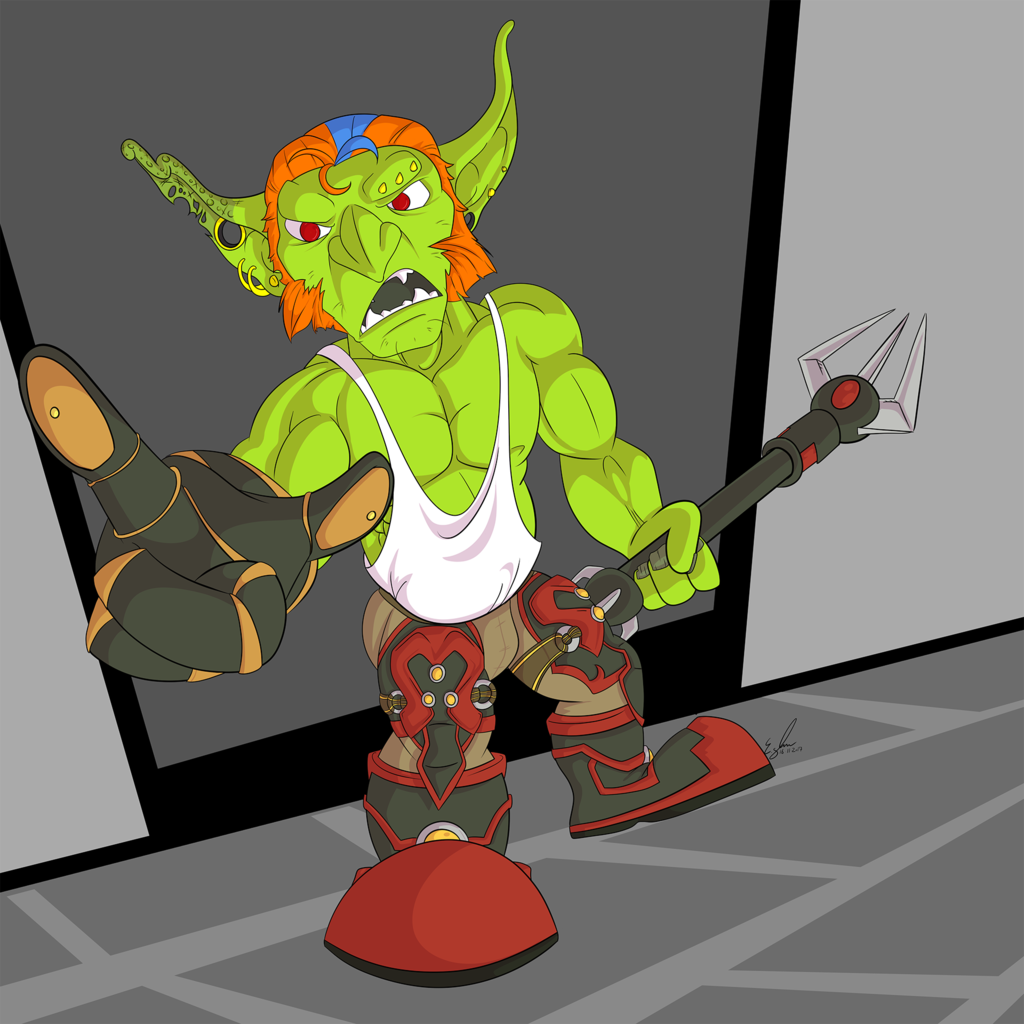 Tiny Angry Green Man