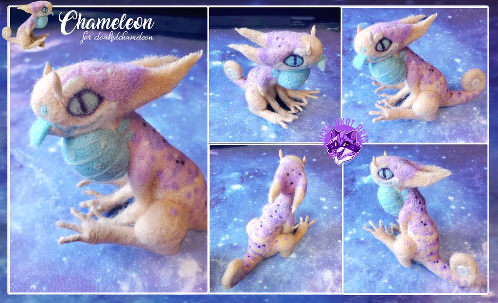 Needle Felt Comm: Chameleon
