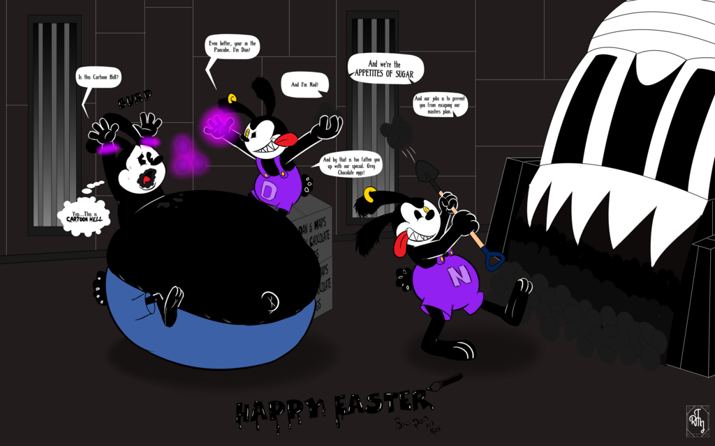 [Silly Doodle]  Dan and Nad's Easter Punishment