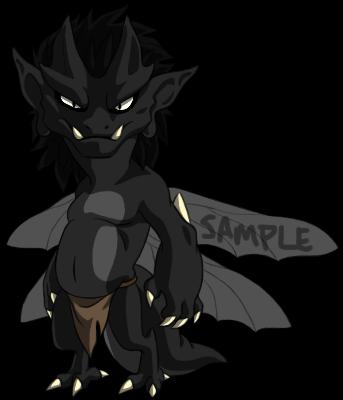 Sample Adoptable Imp - Black Belly