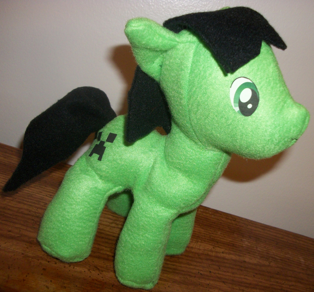 Minecraft creeper MLP plush
