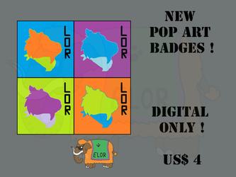 New Pop Art Badges !