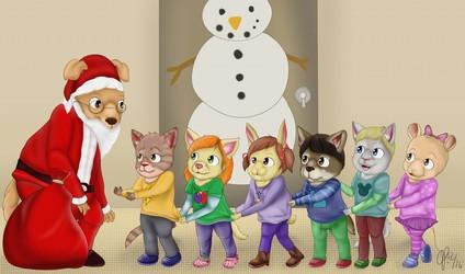 In Line for Santa (December 2016)