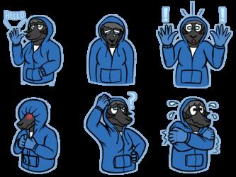 R-con telegram stickers [Commission]