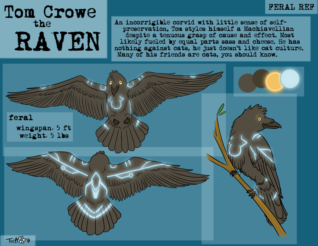 Featured image: Commission: Feral Ref Sheet for Tom Crowe