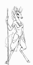 Deer creature sketch