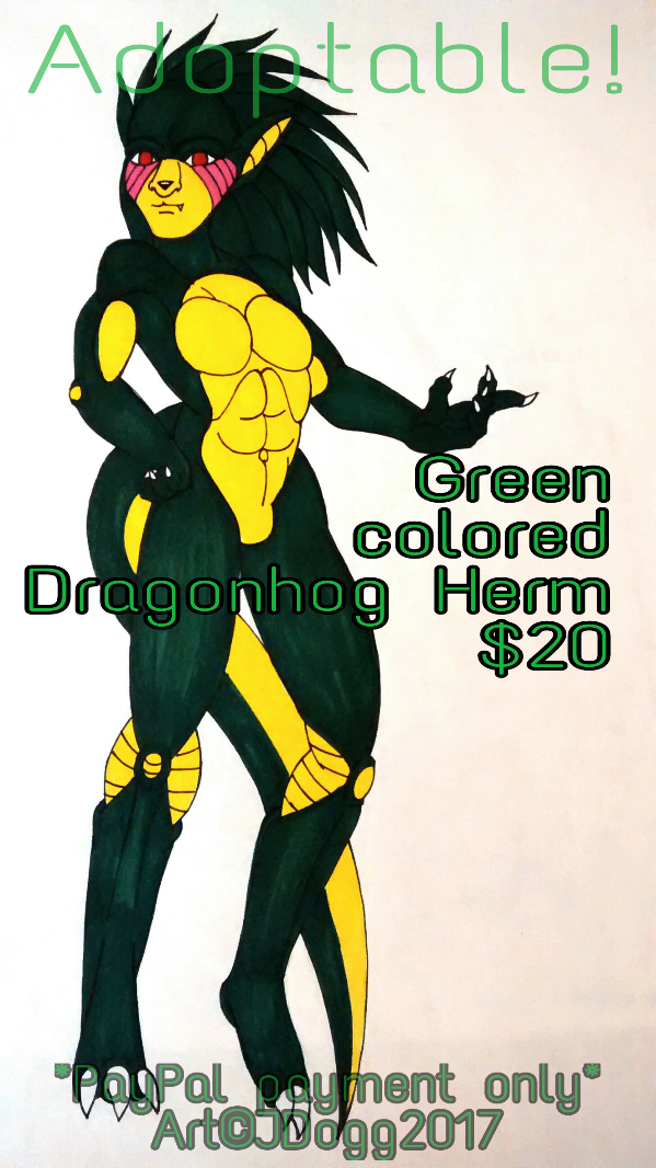 Most recent image: Adoptable ::dragonhog-herm::