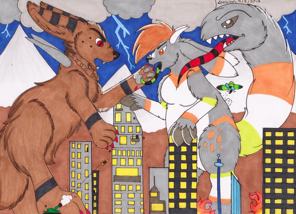Kaijiu city fight!