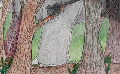 Draw Dinovember-Trees