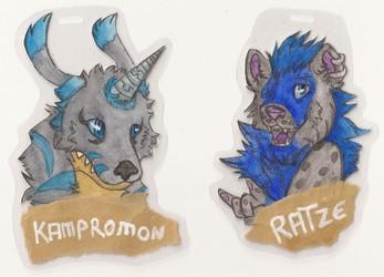 Badges: Kampromon & Ratze