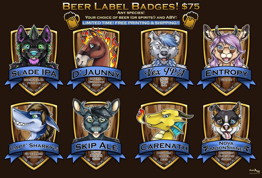 Beer Label Badges!