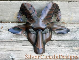 Dark Phase Leather Goat Mask