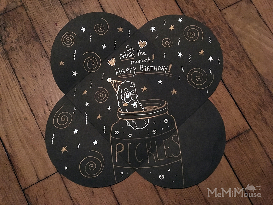 Pickle Birthday Card Inside