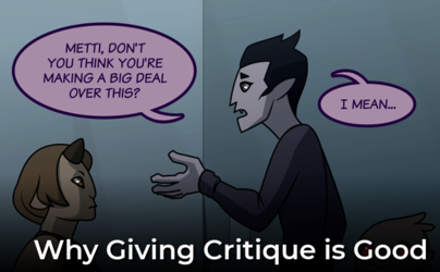 The Art of Critique: Why Giving Critique is Good